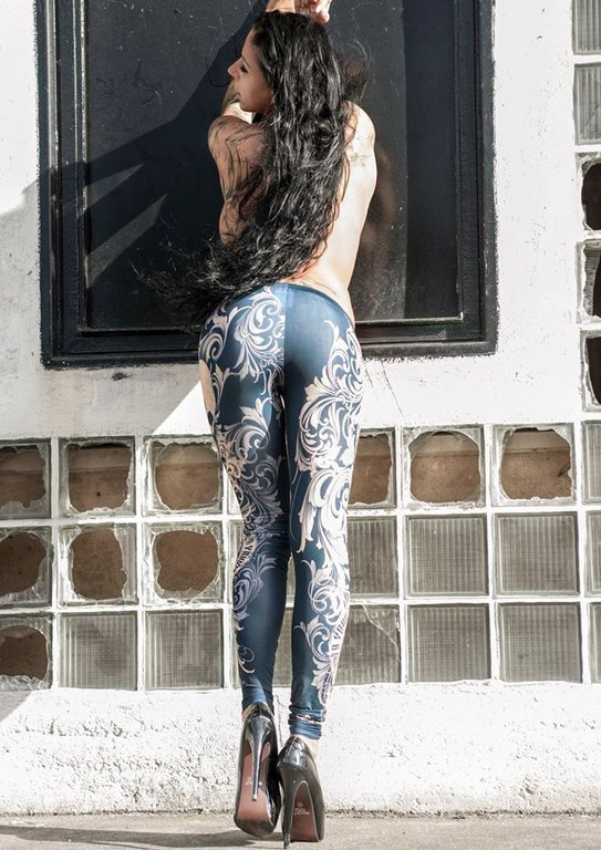 Yakuza Leggings LEB 7135 mood indigo