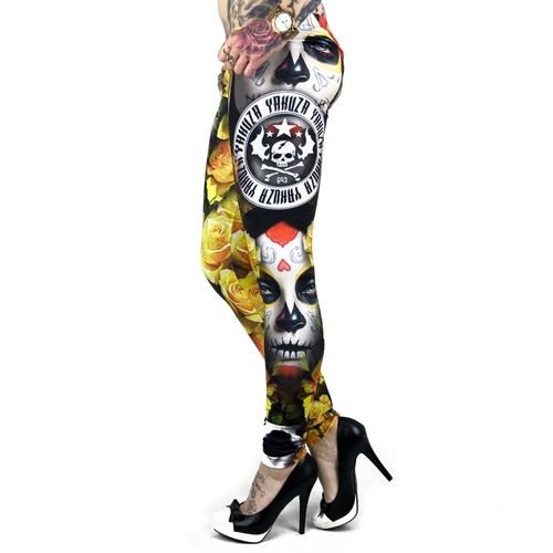 Yakuza Leggings  LEB 9144 mulitcolored