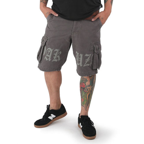 Yakuza Cargos Shorts CSB 12045 dark gull gray moonwashed