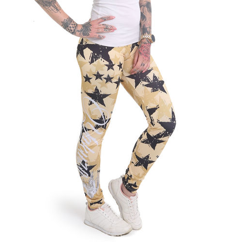 Yakuza Stars Leggings LEB-12155 pale banana
