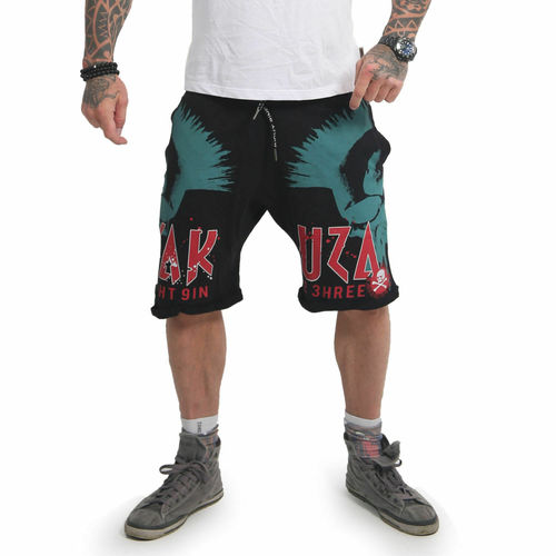 Yakuza Dead Punk Sweat Shorts SSB-14033 black