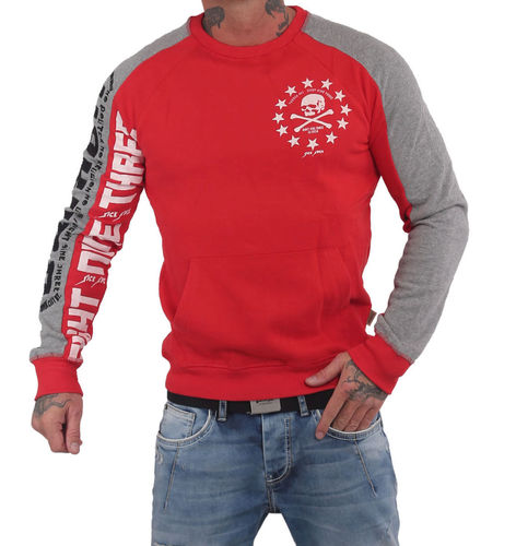Yakuza 893 Two Face Raglan Pouch Pullover PB-14016 rot