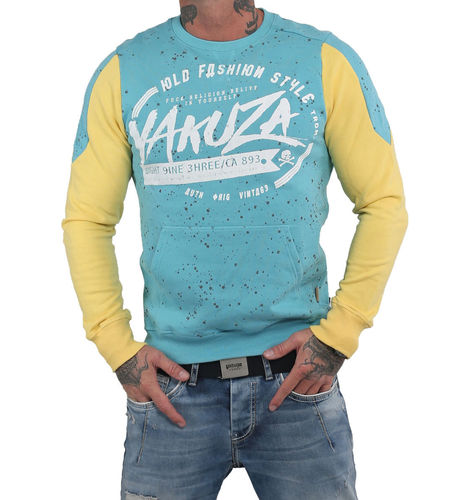 Yakuza Old Fashion Two Face Pouch Pullover PB-14015 maui blue