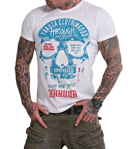Yakuza Through Skull T-Shirt TSB-16018 weiß