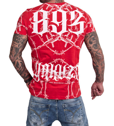 Yakuza Barbwire T-Shirt TSB-16023 red