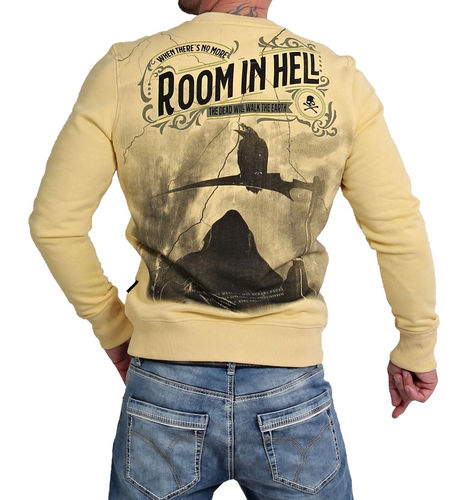 Yakuza Room In Hell Pullover PB-16075 pale banana