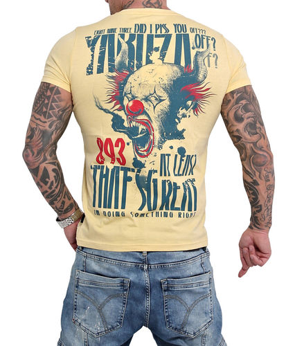 Yakuza Piss Off T-Shirt TSB-16020 pale banana
