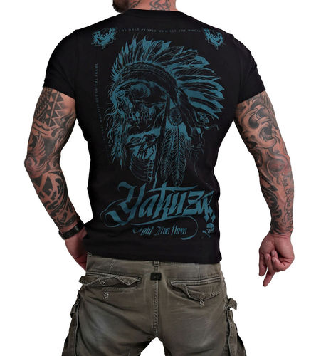 Yakuza Indian Skull T-Shirt TSB-16027 black