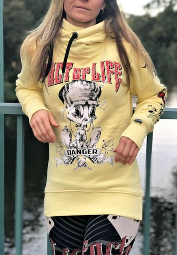 "Fact of Life Damen Hoodie ""Danger"" GSH-01 pale banana"