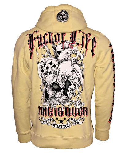"Fact of Life Hoodie ""Time is Over"" SH-08 pale banana"
