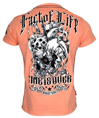 "Fact of Life T-Shirt ""Time is Over"" TS-37 papaya punch"