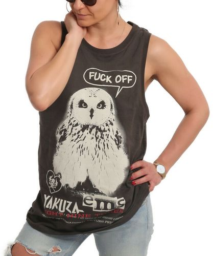 Yakuza Owl Tank Shirt black ink